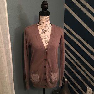 J. Crew Women's Linen/ Cotton blend Gray Cardigan
